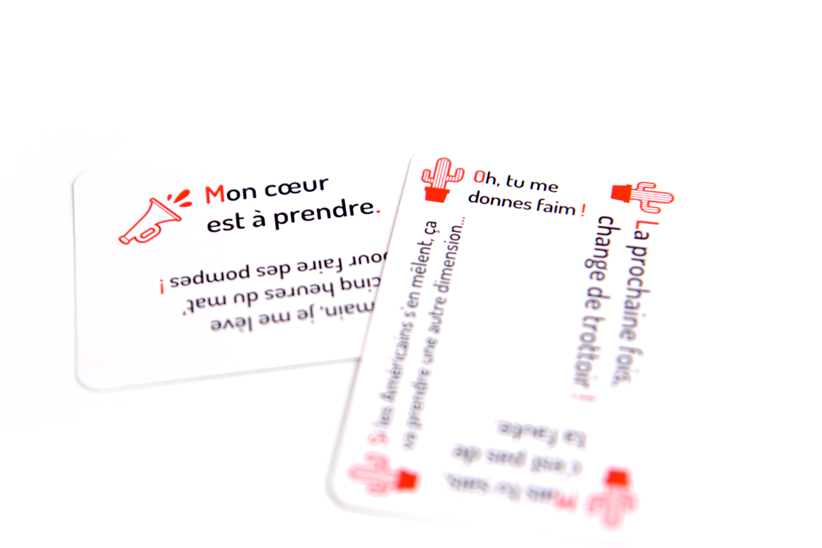 """Exemple d'une carte """"Réflexions"""" et d'une carte """"Répliques"""""""
