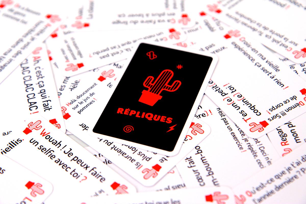 """Dos d'une carte """"Répliques"""""""