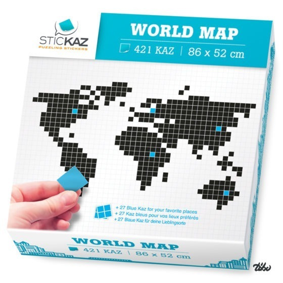 Box WORLD MAP vendue en boutique.