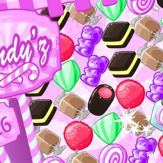 design du jeu Candy'z