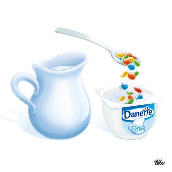"Illustration ""Danette au lait"""