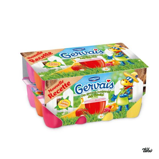 Petit Gervais packaging nouvelle recette