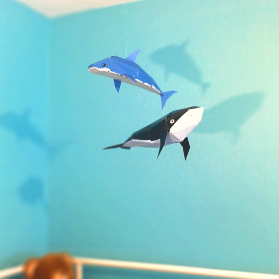 "Installation ""Shark"" and ""Wahle"""