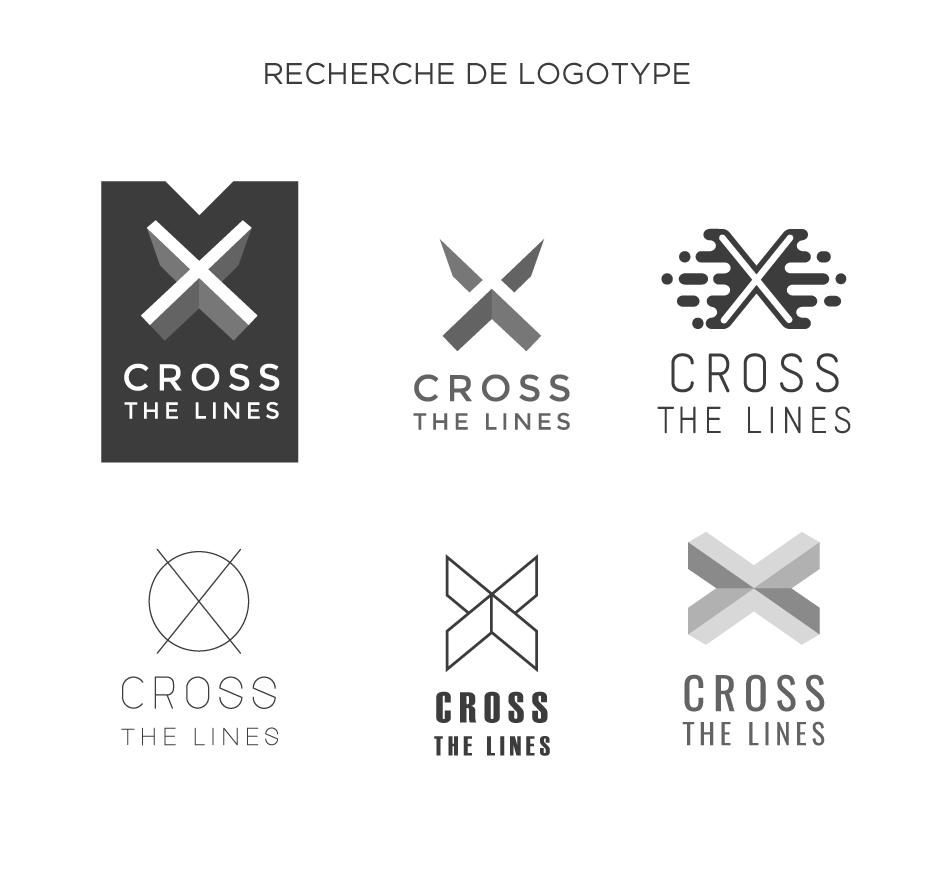 """Recherche de logotype pour l'évènement """"Cross the lines"""""""