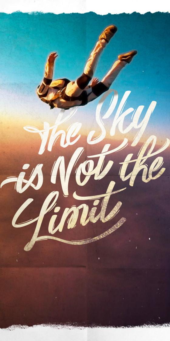 """The Sky is Not the Limit"" Création d'affiche"