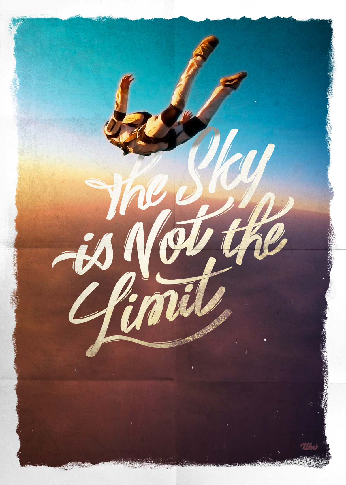 """The Sky is Not the Limit"" Création d'affiche"