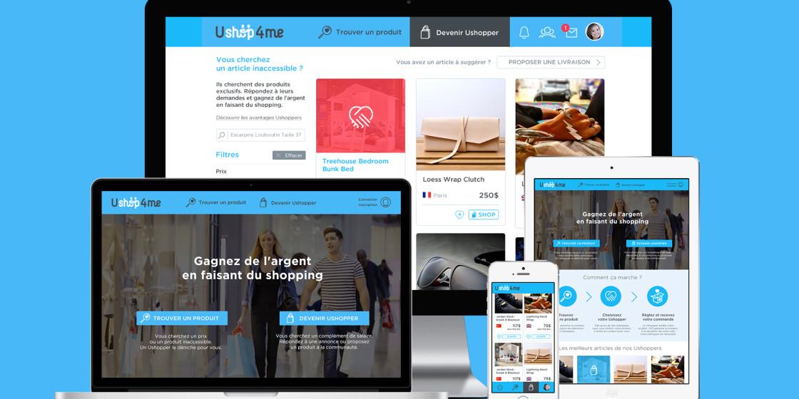 Ushop4me UI/UX design web et application iOS