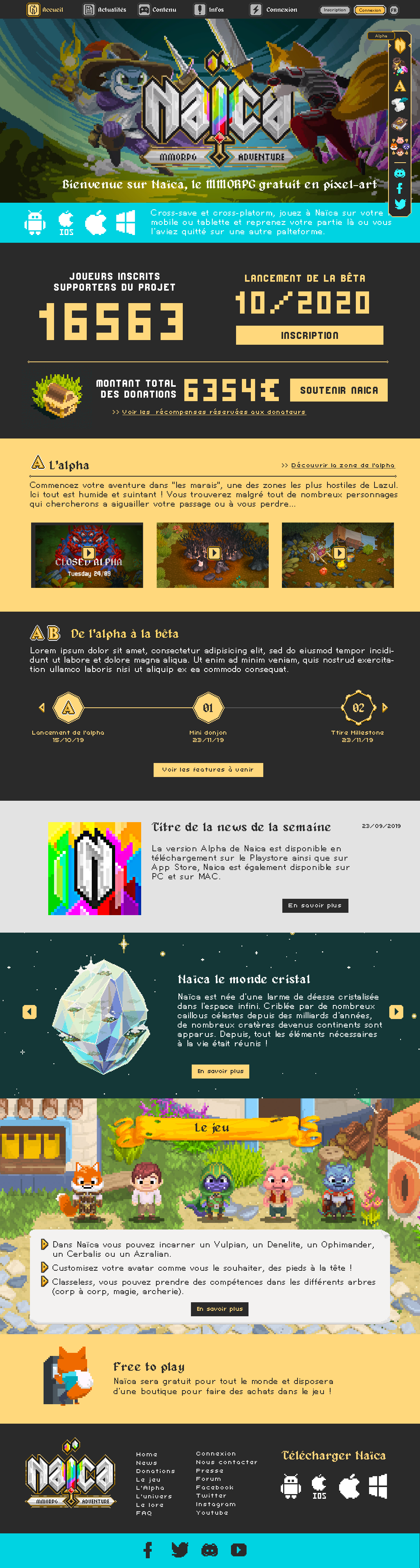 Home page du site Naïca